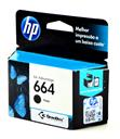 Cartucho Original HP664 Preto F6V29AB Para HP DeskJet Ink Advantage 1115 2136 2676 3636 3776 3786 3788 3790 3836 4536 4676 5076 5276