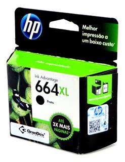 Cartucho Original HP 664XL Preto