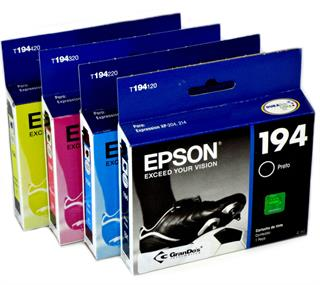 Kit Cartucho Original Epson 194 pack com as 4 cores