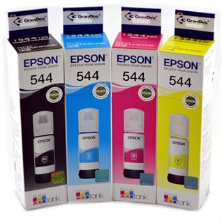 Kit de Refil de Tinta Original Epson 544 em Pack com as 4 Cores