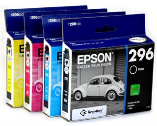 Kit Cartucho Original Epson 296 pack com as 4 cores