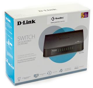 Switch 16 Portas 10/100 Mbps D-Link