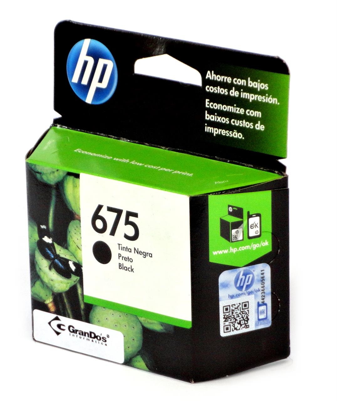 Cartucho Original HP 675 Preto CN690AL
