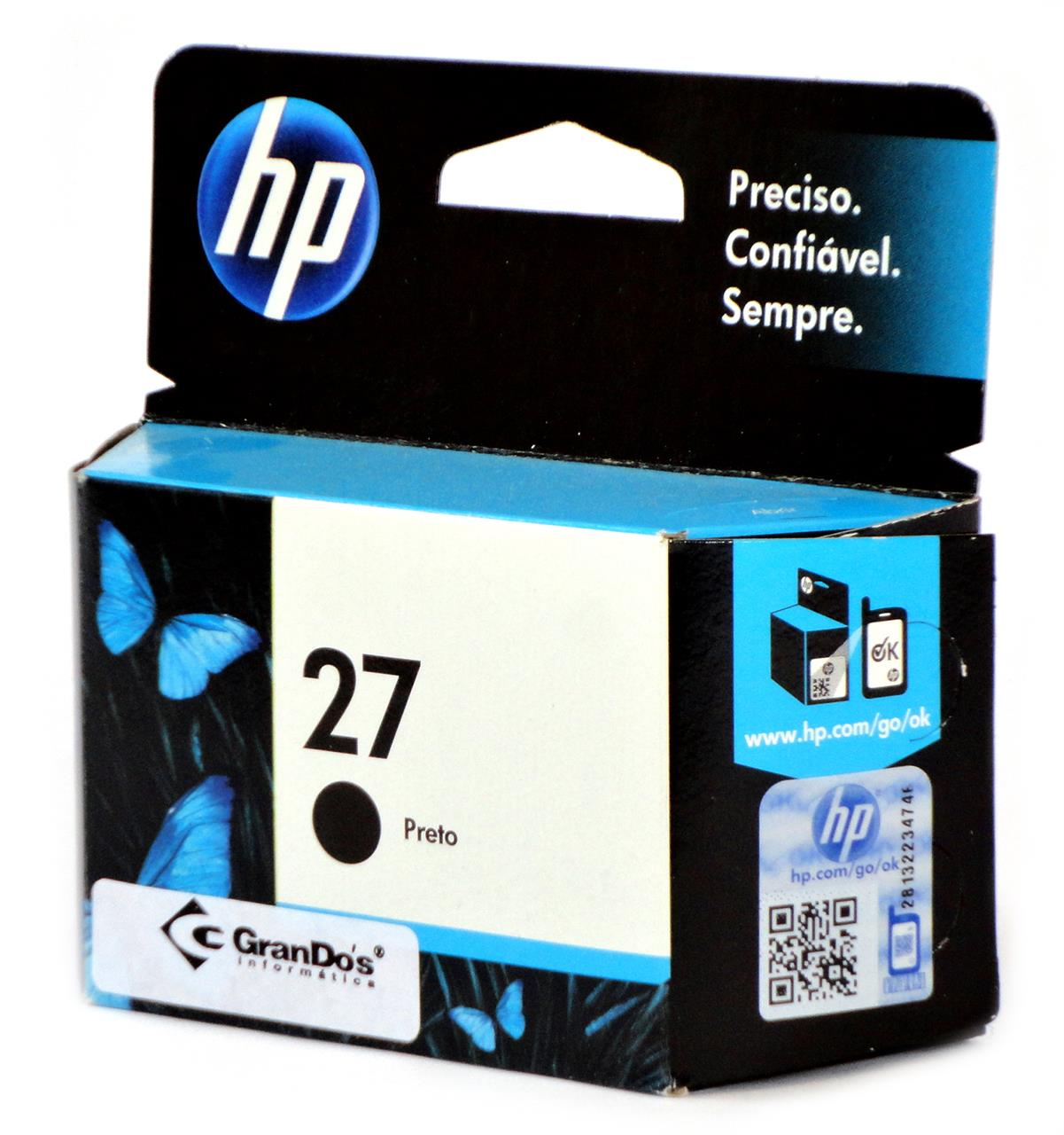 Cartucho Original HP 27 Preto C8727AB