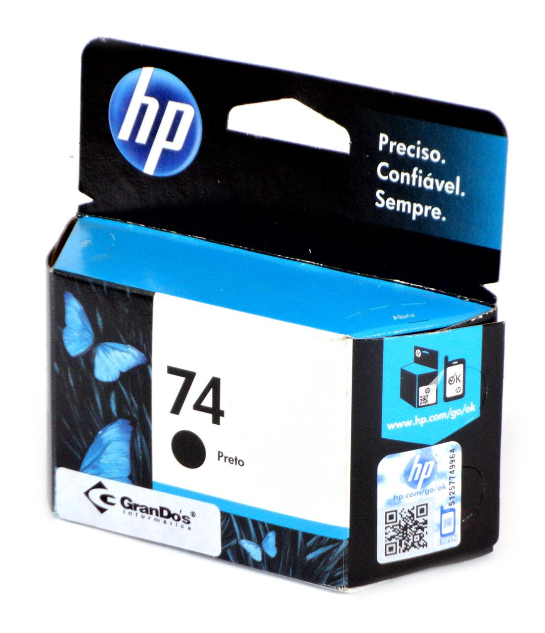Cartucho Original HP 74 Preto CB335WL
