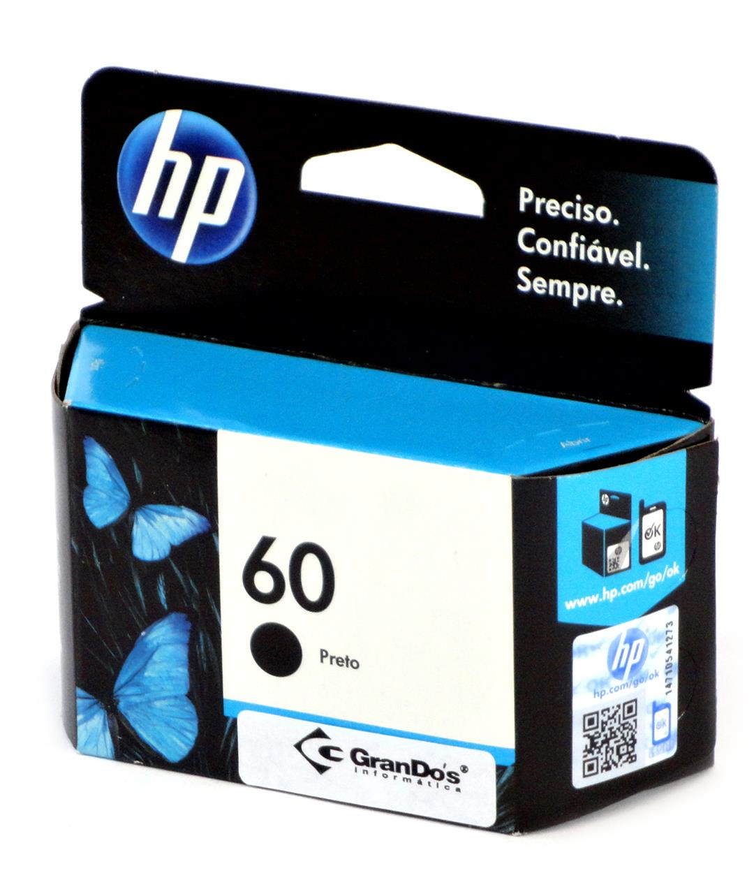 Cartucho Original HP 60 Preto CC640WB