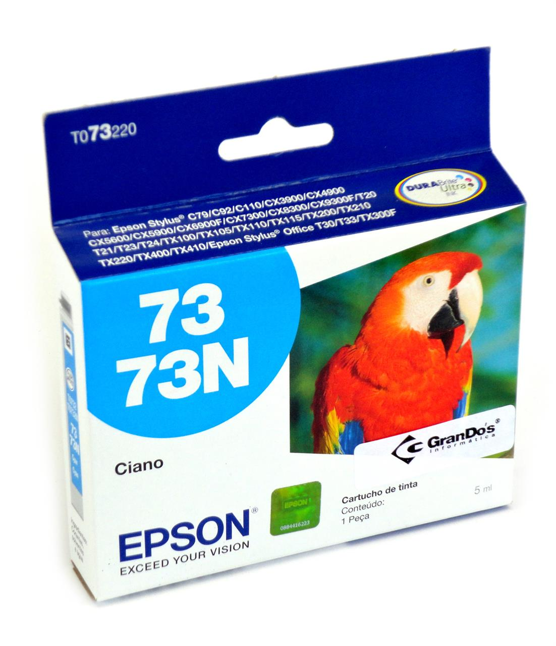 Cartucho Original Epson 73N Azul TO73220