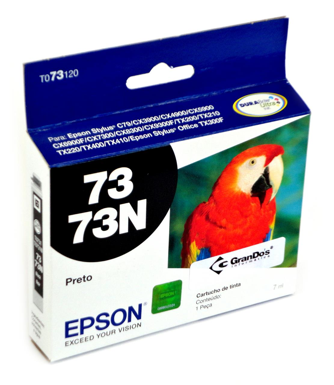 Cartucho Original Epson 73N Preto TO73120