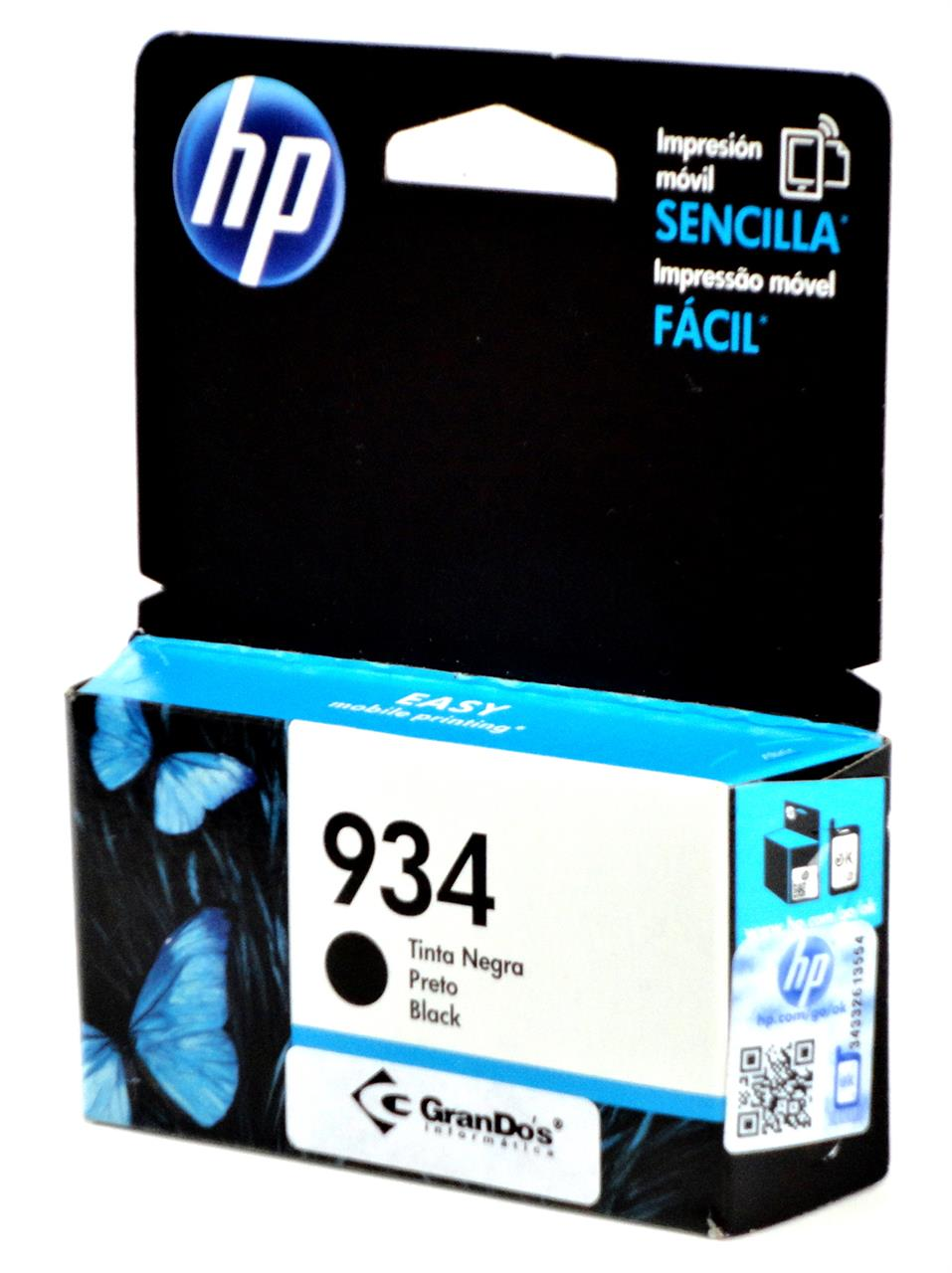 Cartucho Original HP 934 Preto