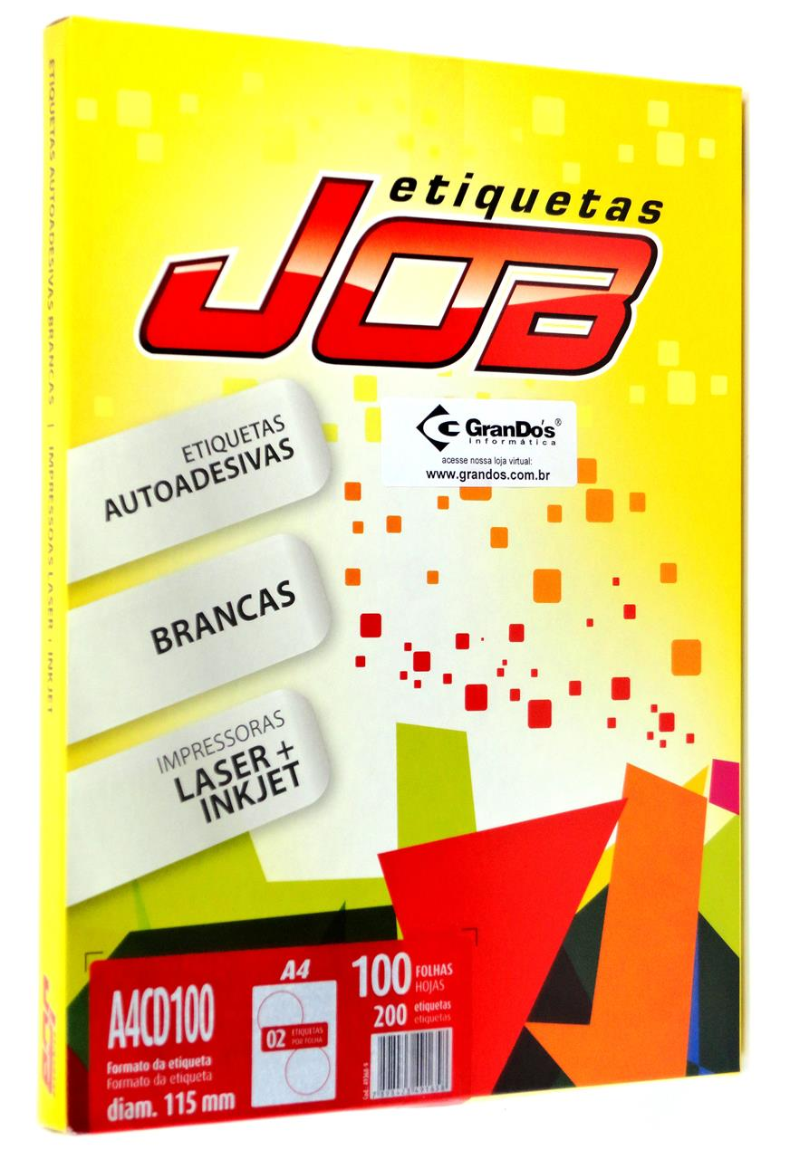 Etiquetas para CD A4CD100 115mm Job