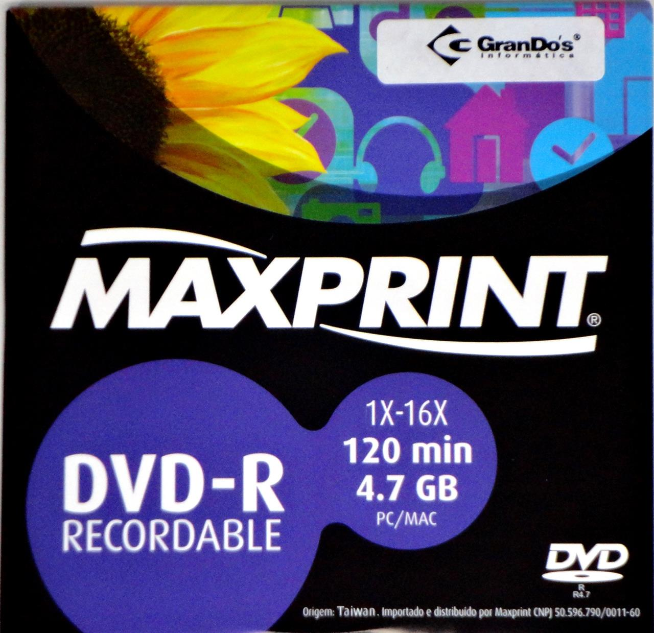 DVD-R no Envelope Maxprint 4.7