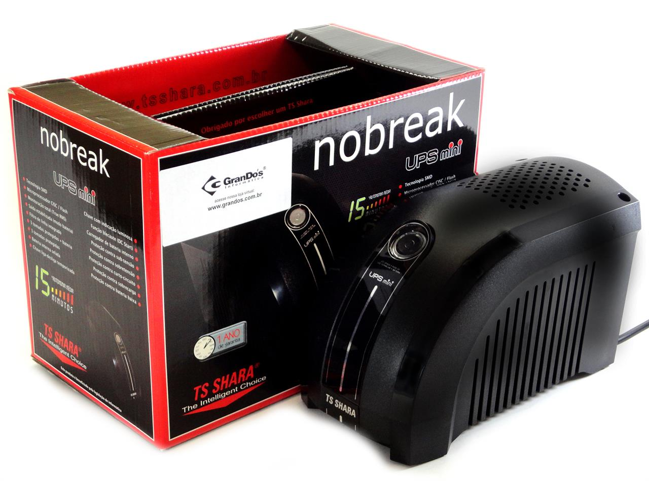 Nobreak - Nobreak 600VA TS Shara Ups Mini Bivolt
