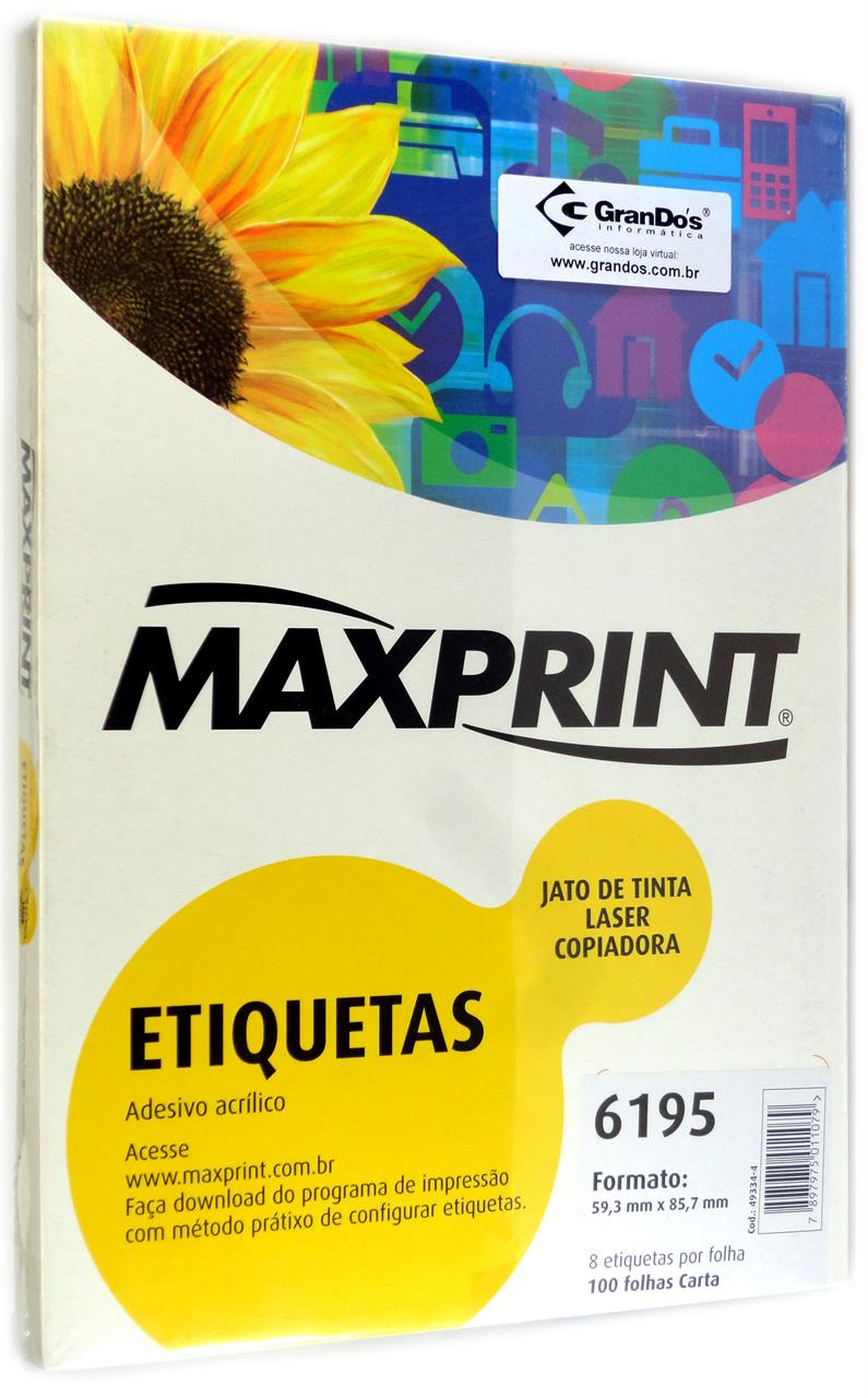 Etiquetas 6195 59,3mm x 85,7mm Maxprint