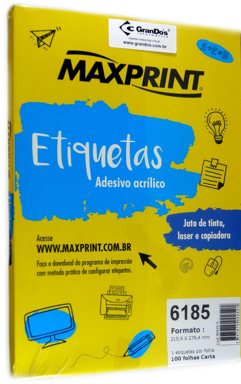 Etiquetas 6185 215,9mm x 279,4mm Maxprint