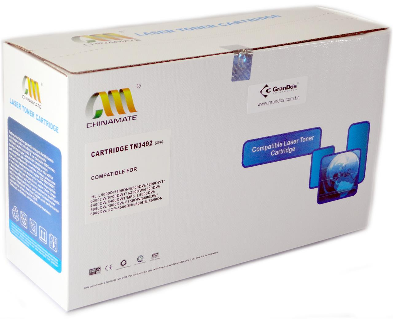 Toner Compatível Brother TN3492 Chinamate