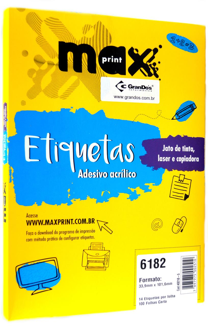 Etiquetas 6182 33,9mm x 101,6mm Maxprint