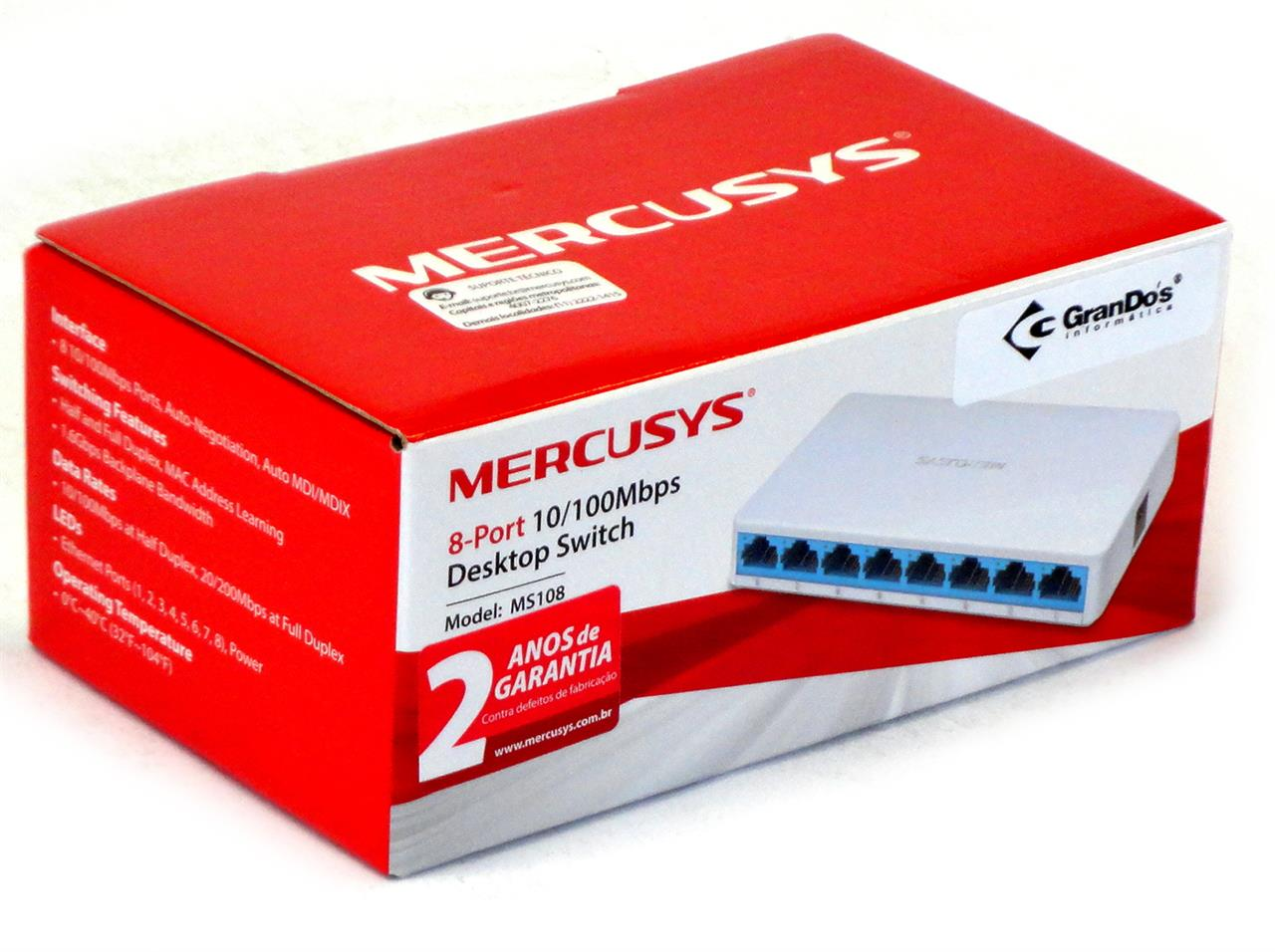 Switch 8 Portas 10/100mbps Mercusys