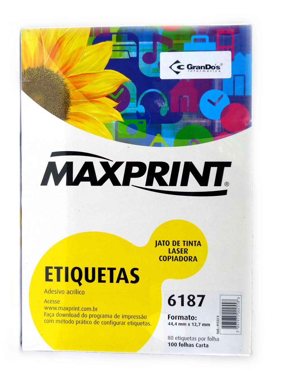 Etiquetas 6187 44,4mm x 12,7mm Maxprint