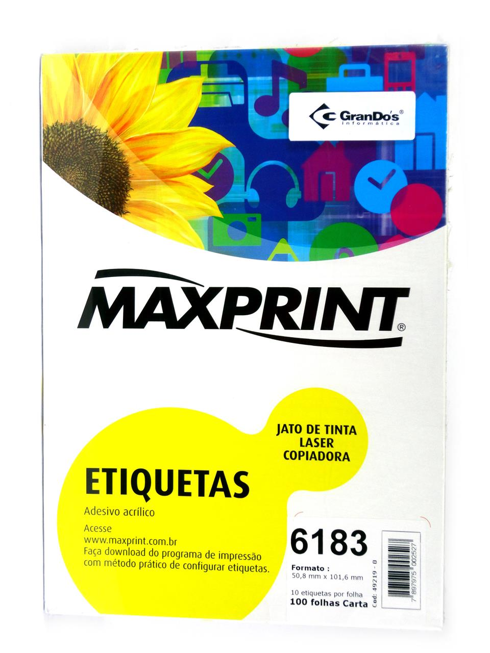 Etiquetas 6183 50,8mm x 101,6mm Maxprint